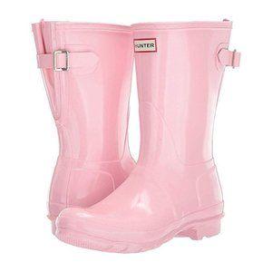 Hunter Original Short Pink Gloss Rainboots 7 NIB